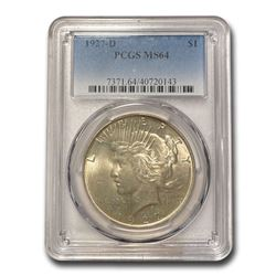 1927-D Peace Dollar MS-64 PCGS