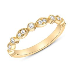 Natural 0.27 CTW Round Diamond Ring 14KT Yellow Gold