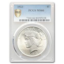 1923 Peace Dollar MS-66 PCGS
