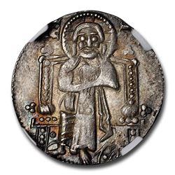 Venice Silver Grosso Pietro Gradenigo (1289-1311 AD) MS-63 NGC