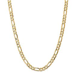 14k Yellow Gold 6.75 mm Concave Open Figaro Chain - 26 in.
