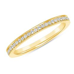 Natural 0.22 CTW Pave Diamond Ring 14KT Yellow Gold