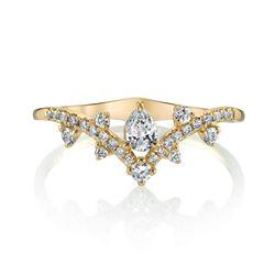 Natural 0.42 CTW Royal Diamond Ring 18KT Yellow Gold