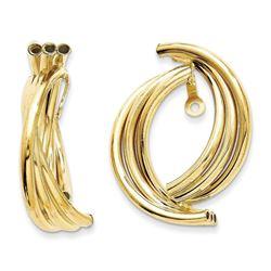 14k Solid Gold Polished Fancy Earring Jackets
