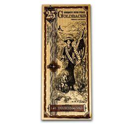 25 Utah Goldback - Aurum Gold Foil Note (24k)