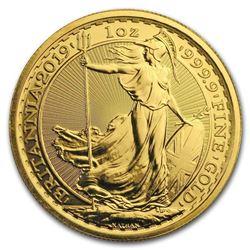 2019 Great Britain 1 oz Gold Britannia BU