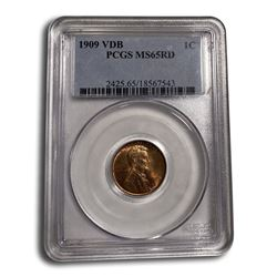 1909 VDB Lincoln Cent MS-65 PCGS (Red)