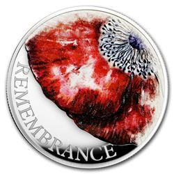 2018 Great Britain £5 Silver Remembrance Day Piedfort Proof