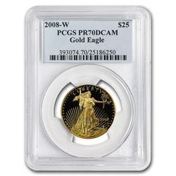 2008-W 1/2 oz Proof Gold American Eagle PR-70 PCGS