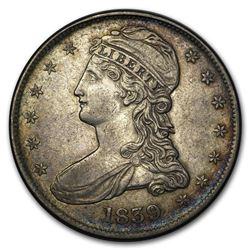 1839 Reeded Edge Half Dollar AU (Details)
