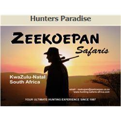 5 DAYS 2 HUNTERS  KWAZULU NATAL PROVINCE SOUTH AFRICA