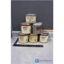 (6) Tobacco Tins - Old Chum, Sweet Caporal