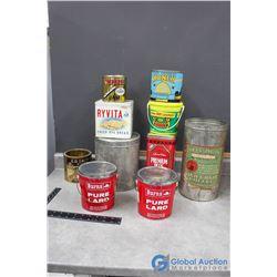 Household Tins - Burns, Ryvita, Empress Jam, Coffee, etc