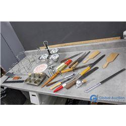 Vintage Kitchenware - Seving Trays, Tins, Warming Trays, Utensild, etc