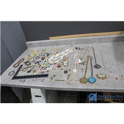 Misc Jewelry Items - 10 Commandments Braclet, Smurf Pins, Silver Braclet, etc