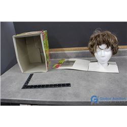 Vintage Wig and Foam Head in Box