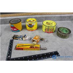 Vintage Auto Related Items, Kleener, Paste Wax