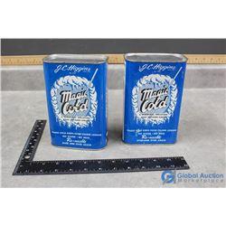 (2) Vintage Magic Cold Tins (full)