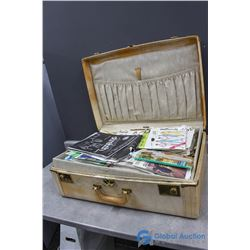 Vintage Suitcase full of Sewing Patterns