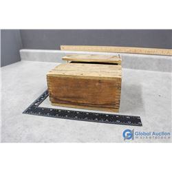 """Vintage Wooden Crate of 3"""" Coated Nails"""