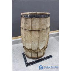 Vintage Wooden Barrel