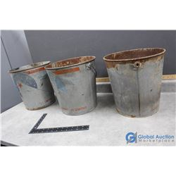 (3) North Star Oil 25lb Grease Pails