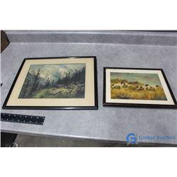 (5) Framed Pictures