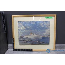 """Framed Canadian Pacific """"Empresss of Canada"""" Print"""