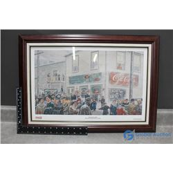 """Coca-Cola Framed Limited Edition """"On The Hub - 1940"""" Print"""
