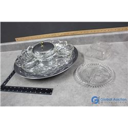 Divided Serving Tray and Dishes
