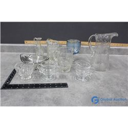 Misc Glassware - Pitchers, Sugar&Creamer, etc