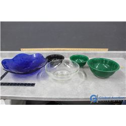 Various Large-Small Glass Bowls