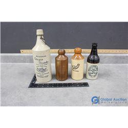 (4) Stoneware Bottles