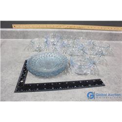 Blue Glass Dishware
