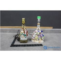 (2) Porcelain Figurine Lamps