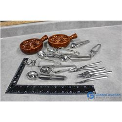 Snail Tongs, Forks & Dishes