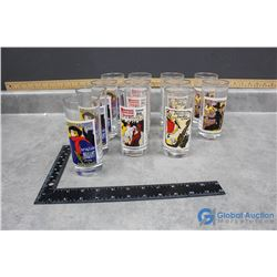(12) Concert Poster Glass Set