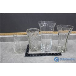 (4) Glass Vases