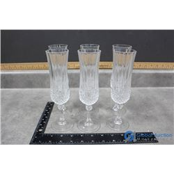 (6) Crystal Champagne Glasses