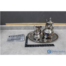Silver Tea Set & Tray