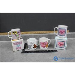 "Minnie Mouse & ""I Love You"" Mug w/Boxes Plus Assorted Mugs"