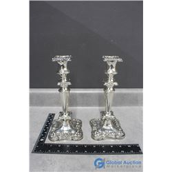 Pair of Britannia Silver Plate Candle Stick