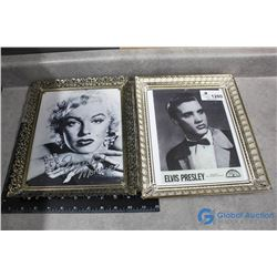 Marilyn & Elvis Publicity Photos - BID PRICE x2