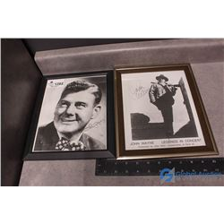 John Wayne & Arthur Godfrey Signed Photos Prints - BID PRICE x2