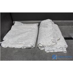 Lace Perapress Banquet Table Cover - BID PRICE x2