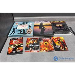 Martial Arts Books & The Karate Kid DVD Collection