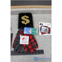 Mask, Gloves & Fuzzy Notebook