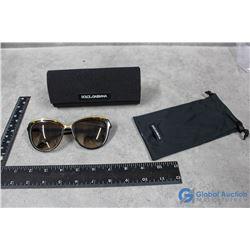 Dolce & Gabbana Sun Glasses, Case & Bag - Cracks on Lens