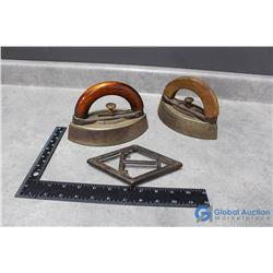 (2) Vintage Sad Irons