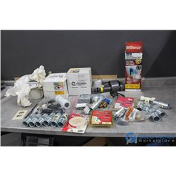 Box of Assorted Electrical & Plumbing Items